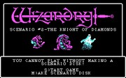 Wizardry II - The Knight of Diamonds - náhled