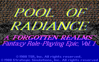 Pool of Radiance - náhled